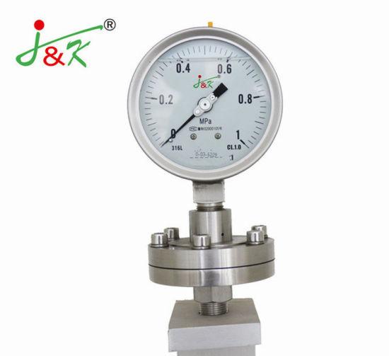 Stainless Steel Diaphragm Seal Pressure Gauge Manometer Gauge for Crrosion Proof