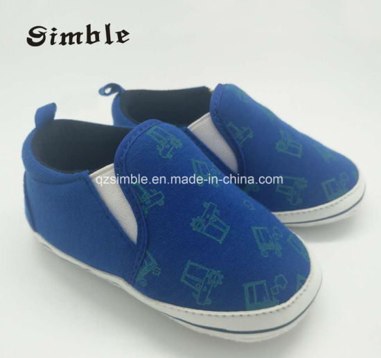 Pure Australian Canvas Cotton Fabric Baby Shoes Can OEM