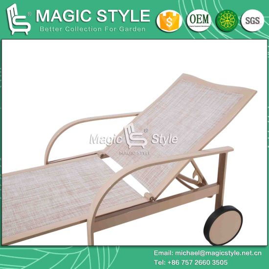 China Outdoor Kd Sling Sun Lounge