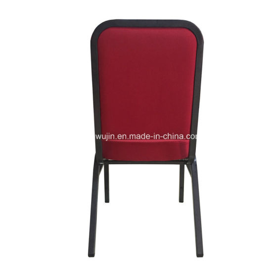 Molded Seat Interlocking Stackable Metal Church Banquet Hall Chairs (JY G12)