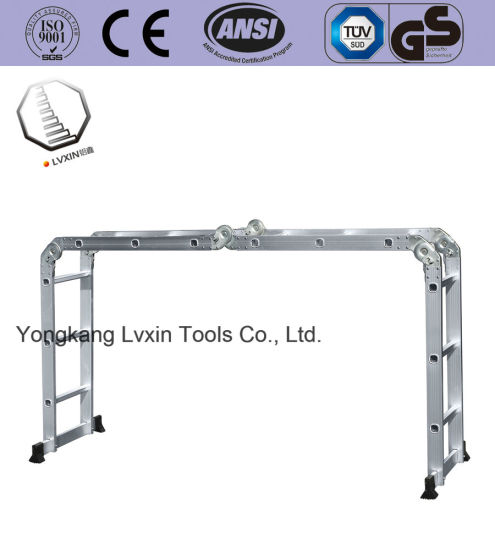 Multi-Purpose Aluminum Hing Ladder with 4*3 Steps