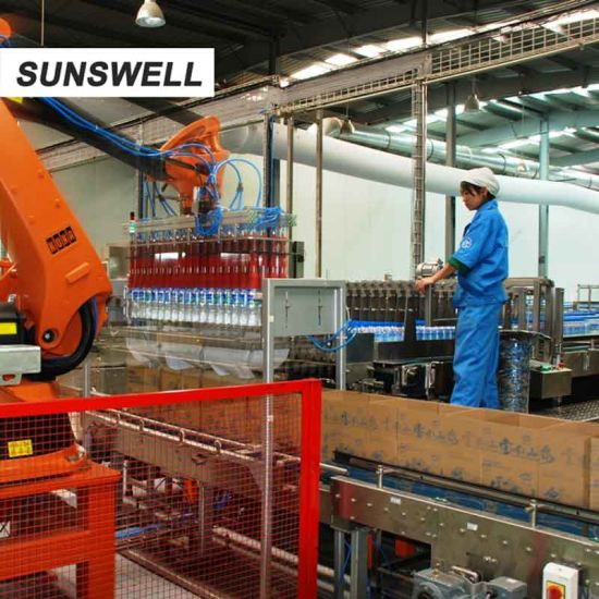 Sunswell Sparkling Water Blowing Filling Capping Combiblock Wooden Packaging pictures & photos