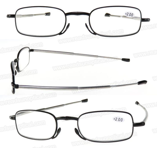 Pocket with Case Metal Folding Reading Glasses for Reader pictures & photos