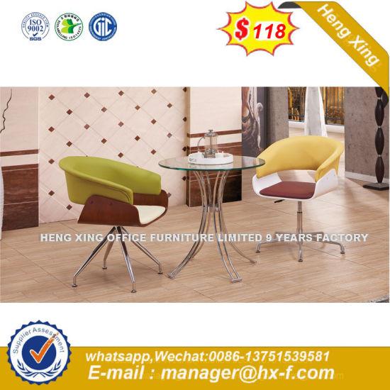 Wholesale High Quality Plastic Indoor Living Room Office Plastic Aluminum Leisure Chair (HX- SN8004)
