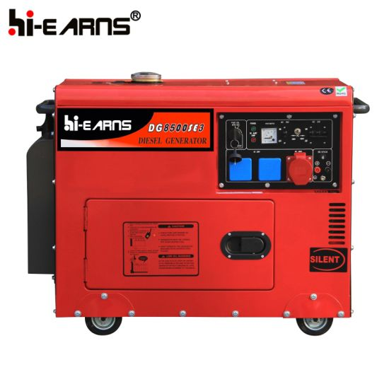 5.5kw Portable Model Silent Diesel Genset (DG7500SE) pictures & photos