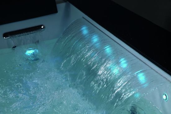 China Rectangle Acrylic Massage SPA Bathtub with LED Light (K1285 ...