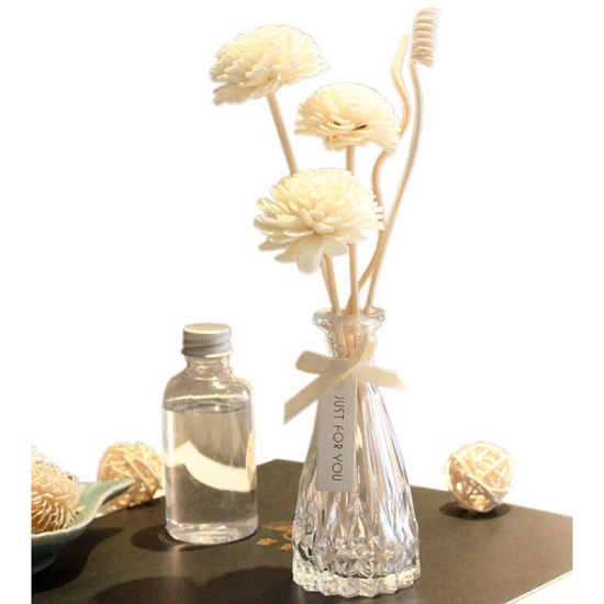 China Popularly 100ml Glassware Vase Reed Diffuser Gift Sets With