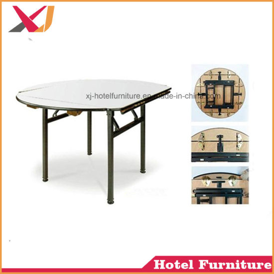 Charming Foshan Wholesale Cheap Used Banquet Tables Round Folding For Hotel