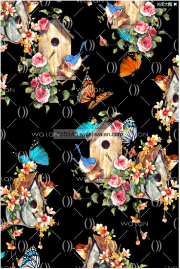 New Design Long Digital Print Silk Satin Scarf