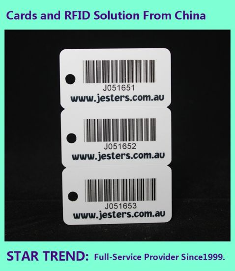 Tool Store Card of Standard Cr80 0.76mm Barcode pictures & photos