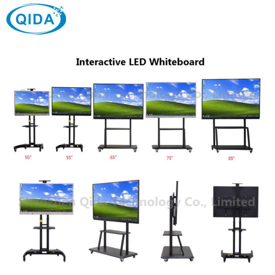 "55"" 65"" 75"" 86"" 98"" Double System Windows Android LCD Display All in One Interactive LED Whiteboard for School"