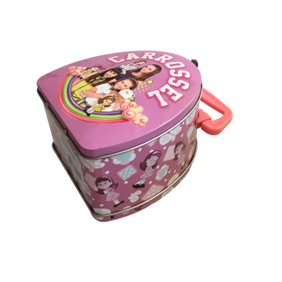 Handle Lunch Tin Packaging Box Metal Food Pacakaging Box Custom Print pictures & photos