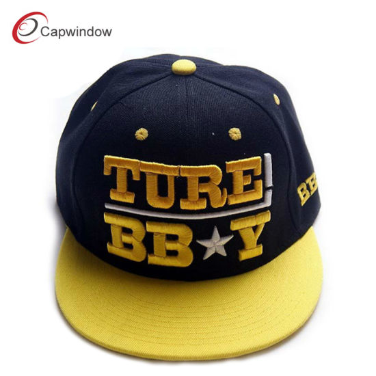 Custom High Quality Adjustable Snapback Fashion Sports Hat for Wholesale