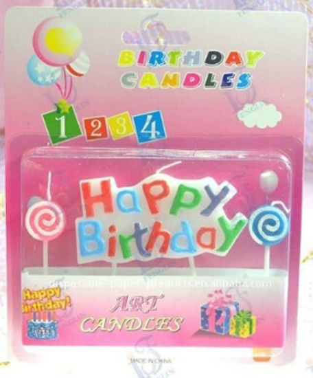 OEM No Smoke When Burning Letter Cake Candle pictures & photos