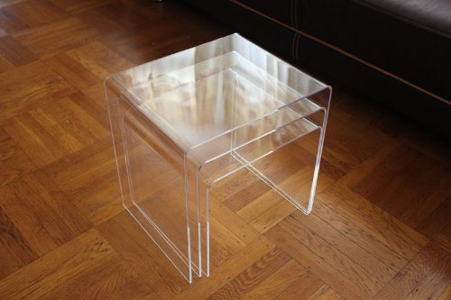 Clear Acrylic Nesting Table Coffee End Table 3PC Lucite Side Table Set pictures & photos