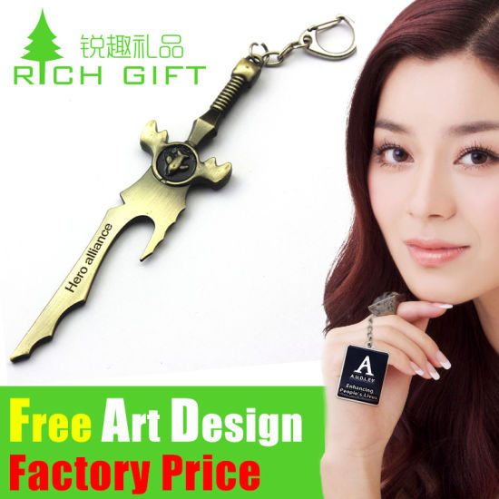 Wholesale High Quality Custom Blank Zinc Alloy Metal Keychain pictures & photos