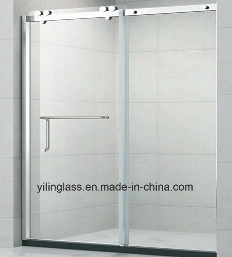 Lovely Tempered Shower Glass Door With Precise Hole Cutout