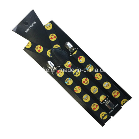 Wholesale in Stock Unisex Fashion Smile Face Emoji Elastic Suspender