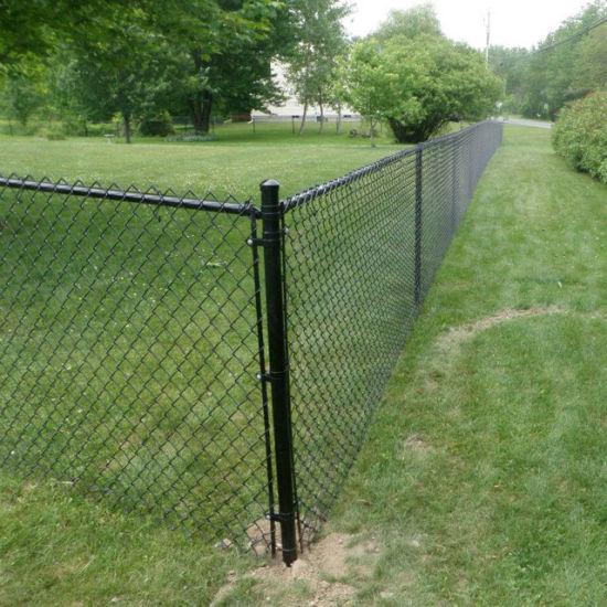 4 Height Black Vinyl Coated Chainlink Garden Fence