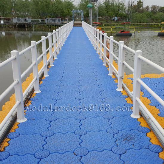 Plastic HDPE Floating Pontoon Bridge
