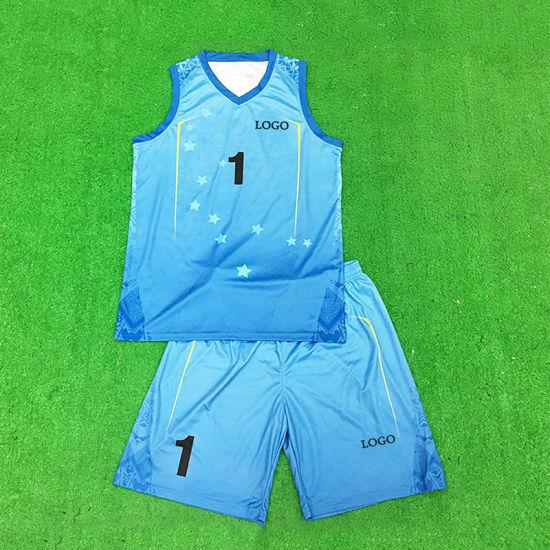Healong Sportswear Uniforms Sublimated Wholesale Custom Cheap Basketball Uniform Set