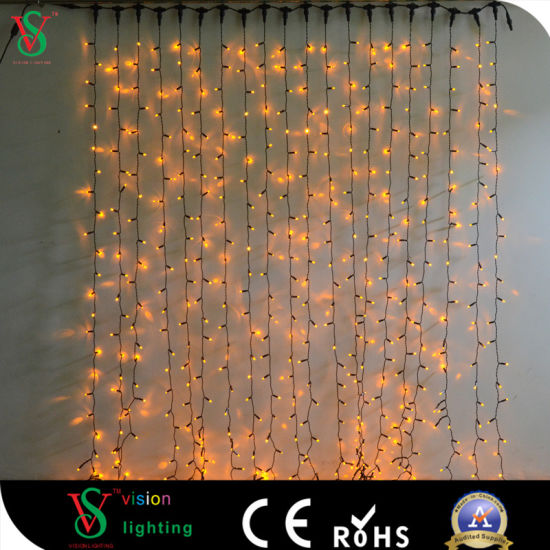China Color Changing Led Curtain String Light For Wall