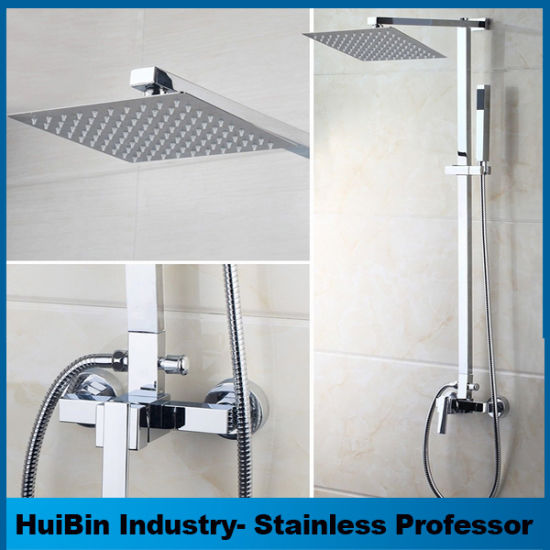 12 Inch Square Ultra Thin Luxury SPA Experience Premium Rain Shower With  Head High Pressure Full Body Cover