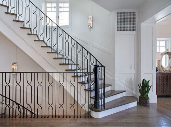 Wrought Iron Metal Staircase Handrail Railing in Canada