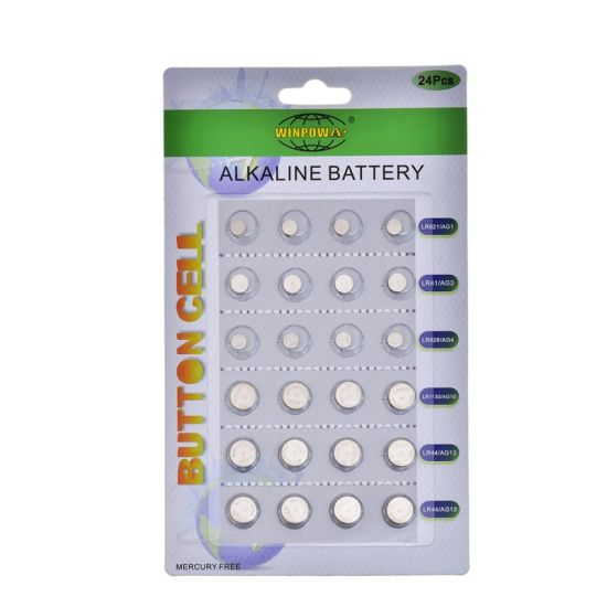 Green Alkaline Coin Cell 0 Mercury AG13 Lr1154 Battery pictures & photos