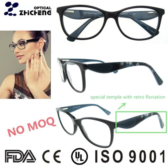 3f8cd2aeab Fashion and Top New Acetate Optical Frame with Special Temple pictures    photos