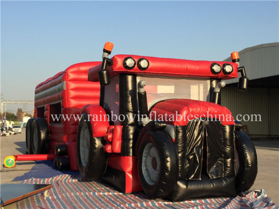 New Design Giant Inflatable Tractor Inflatable Car Obstacle Course pictures & photos
