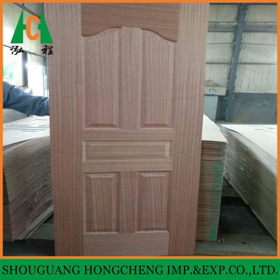 China Teak Veneer Door Skin Swing Open Style And Interior Position