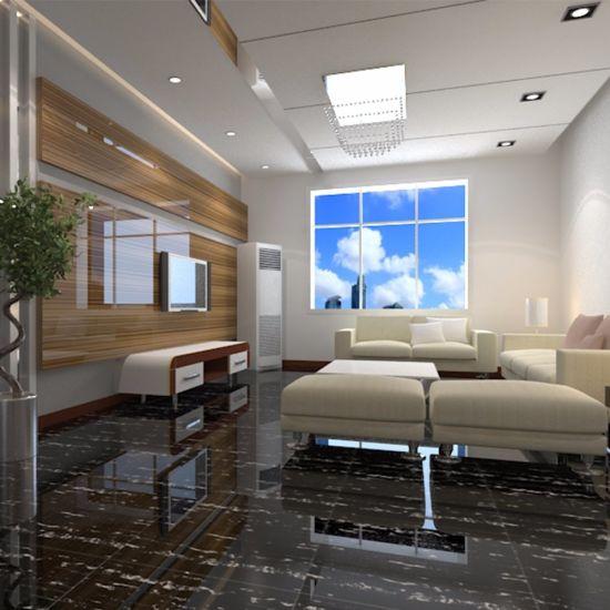 Arabic Floor Polished Tile 600x600 Black White Stripe Marble Stone