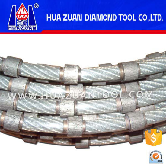 China High Quality 8.8mm Diamond Cable Saw for Marble Block Squaring ...