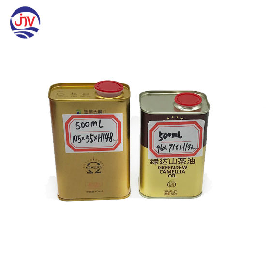 Tinplate Metal Type and Cooking Use Olive Oil Tin Can