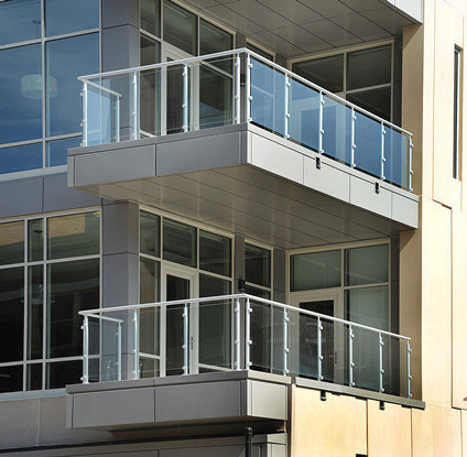 Outdoor Balcony Railing Base Glass Balustrade Clamp For Staircase