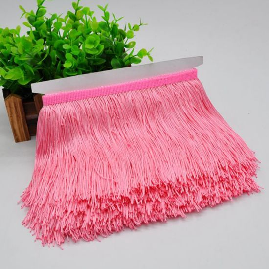 High Quality 15cm Double Thread Fringe Trim for Decoration