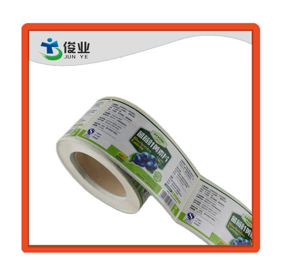 New Type Blueberry Tablet Bottle Sticker/Customized Printing Label in Roll