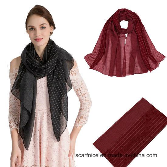 Solid Scarf Striped Scarf Fashion Scarf Cheapest Scarf