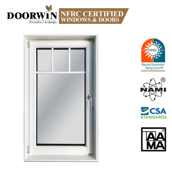 Vertical Rod Stay Casement Window/Toilet & Bathroom Aluminium Casement Windows