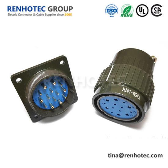 Y36m-14tk Y36m-14zj 14 Contact Circular Connector for Steeper Motor