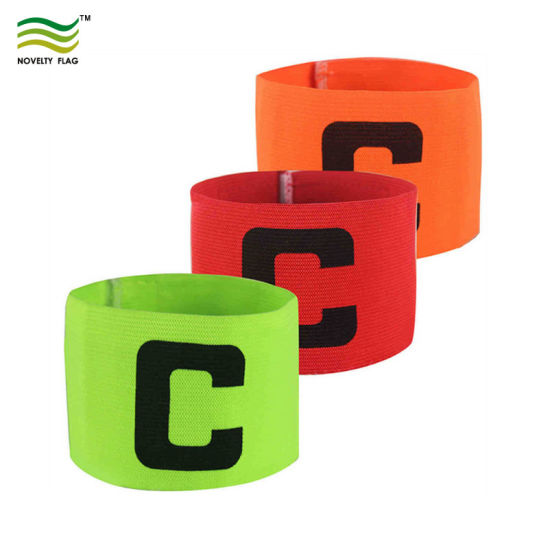 Adjustable Elastic Design Custom Soccer Captain Armband