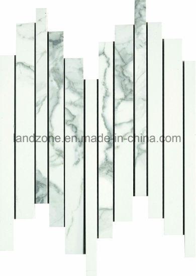 Wholesale China Hallway Design Calacatta Porcelain Mosaic Tile