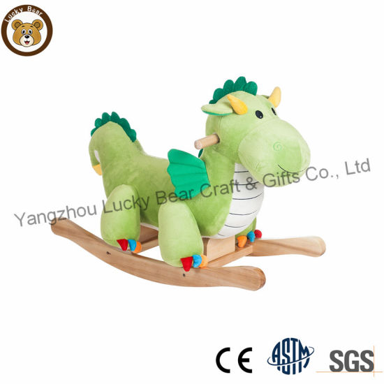 Funny Soft Baby Riding Dragon Toy Stuffed Animal Rocking Chair