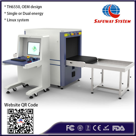 Th6550 Dual Energy Middle Size X-ray Baggage and Parcel Inspection Security Screening Scanning Machine - OEM Design with Cheap Price From Biggest Factory