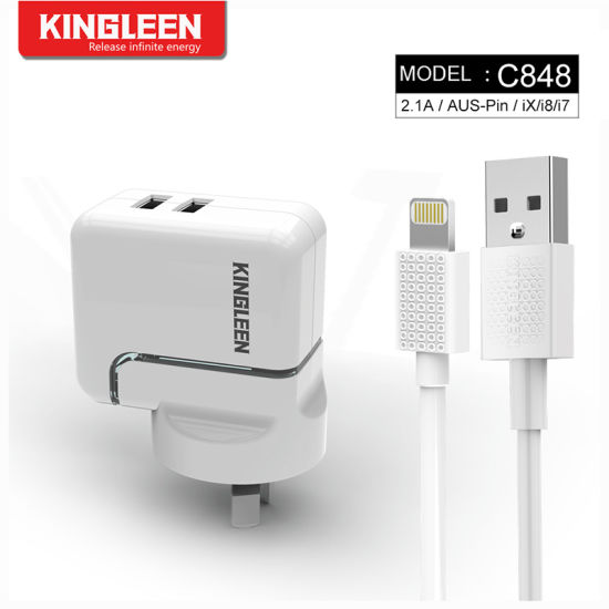 for fApple Lightning Cable Kit (1 Wall Charger + 1 Cable) for iPhone 8 Plus iPhone X / 8/8 Plus / 7 Plus