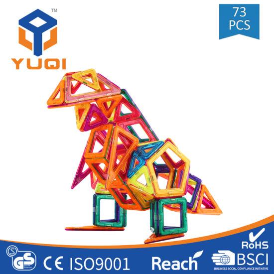 PUZINE 68Pcs Magnetic Building Blocks Toys Educational Magnetic Tiles Set