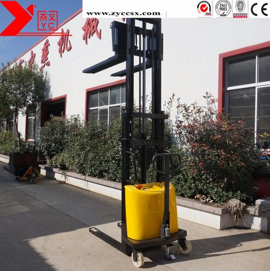 Warehouse Stacker Forklift Equipment Electric Hydraulic Pallet Truck Stacker