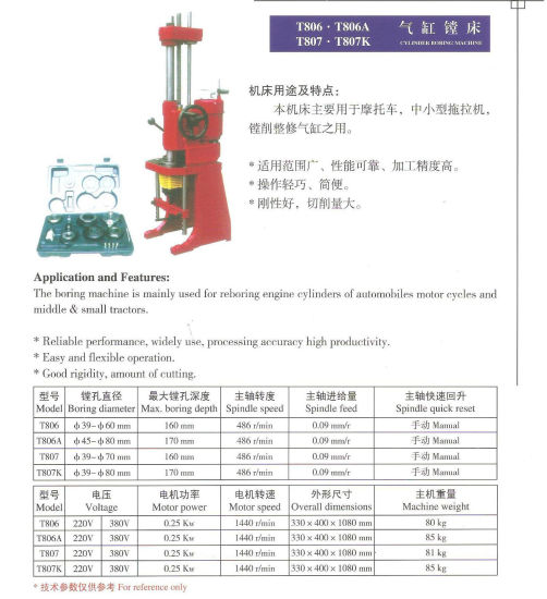 China Manual Cylinder Boring Machine- T8014A - China Cylinder Boring