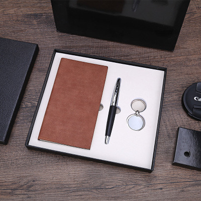 New Design Pen and Pure Leather Notebook Gift Set for Business